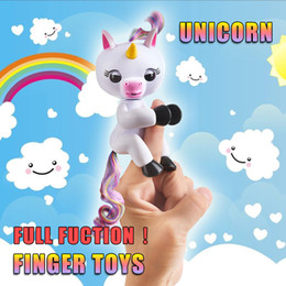 Wholesale Newborn Baby Fashion - ON sale Fingerlings Gigi the Unicorn Fingerling Electronic Smart Touch Fingers Interactive Baby Unicorn Finger Toy Gag Toys Christmas party