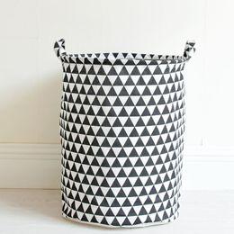 Wholesale Cloth Laundry Baskets - Portable Laundry Basket Cotton&Linen Storage Barrel Folding Dirty Cloth Storage Baskets Kids Toys Sundries Organizer 35x45cm