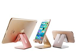 Wholesale Mobile Phone Base - Wholesale-Mobile Mate Aluminum Metal Lazy Desktop Mount Cell Phone Holder Portable Tablet Stand Base Universal For whole mobile phone