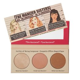 Wholesale Mary Cosmetics - 3pieces brand Makeup Cosmetics Manizer Sisters 3 Color Face Pressed Powder Mary-Lou Betty-Lou Cindy-Lou Shimmer Powder Palette