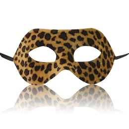 Wholesale Wild Animals Costumes - Hallowmas party Leopard mask Interest mask Wild costumes dance props Animal cartoon