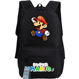 Wholesale Red Mario Backpack - Jump worker backpack Game schoolbag Super Mario bros daypack Hot sale school bag Quality day pack