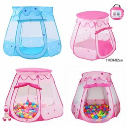 Wholesale princess houses - 2 Colors Children Beach Tent Baby Toy Play Game House Kids Princess Castle Tent Indoor Outdoor Toys Tents Christmas Gifts CCA8418 50pcs