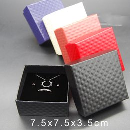 Wholesale Earring Box Set - Wholesale Jewelry Cases Display Cardboard Necklace Earrings Ring Bracelet Box Sets Packaging Cheap Sale Gift Box with Sponge Free Shipping