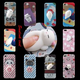 Wholesale Apple Iphone Different Colors - 2017 extremely popular iphone 6s plus case TPU 10 different nice colors squishy cat phone case