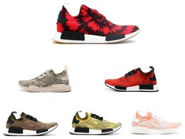 Wholesale Mens Kicks - Originals NMD shoes R1 PK NICE KICKS Mens Running Shoes NMD runner Sneaker Men Fashion Daily casual Trainers women ultra boost