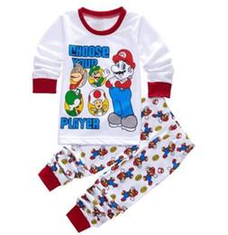 Wholesale Pijama Baby Boy - New kids pijama infantil sleepwear home clothing cartoon cotton Baby pijama 2-7Y kids girls boys pajamas sets Mario pyjamas