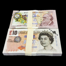 Wholesale Black Pound - 100PCS UK Pound GDP £10 Movie Props Money Bank Staff Training Collect Learning Banknotes New Arts Collectible Gifts Home Decoration Crafts