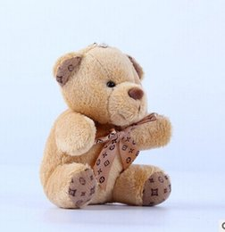 Wholesale Teddy Bears Keychain - 10cm a tie plush toy teddy bear doll pendant keychain toy gifts