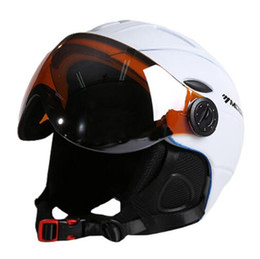 Wholesale Half Helmet Goggles - Half-covered CE Certification Ski Helmet Integrally-molded Outdoor Sports Goggles Skiing Helmet Snowboard Helmet Feature:Ultralight,Integral