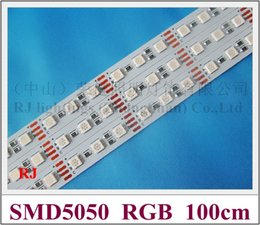 Wholesale Dc 1mm - RGB LED rigid strip light LED light bar LED cabinet light 1000mm*12mm*1mm 60 led SMD 5050 DC12V 14W RGB CE ROHS
