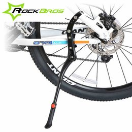Wholesale Bicycle Side - Wholesale-Rockbros Bicycle 24''-29''adjustable Side Stick Kick Stand Bike Accessories