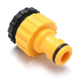Tap plastica online-2016 Nuova migliore promozione 3/4 filettato tubo da giardino in plastica tubo acqua connettore tubo raccordo rubinetto adattatore eccellente qualità