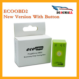 Wholesale Bmw Driving - 2016 Newest Green Economy EcoOBD2 For Benzine Car Chip Tuning Box Plug And Drive Eco OBD2 Save Fuel Free Shipping