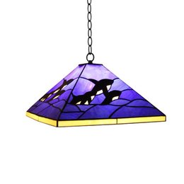 Blue Tiffany Dolphin Dining Room Lampada a sospensione Mediterranean Bedroom Lampade a sospensione Kid's Room Baby Room Pendant Light da