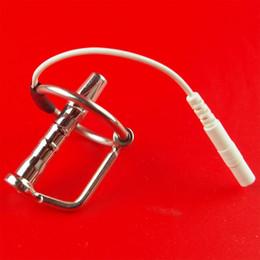 Wholesale Slimming Massager Sex - DIY Electric Urethral Sound Massager Slim Pulse Stimulate Electro Shock Urethral Catheter Penis Plug Dilator Sex Toys