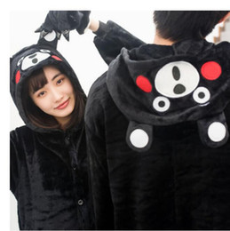 Wholesale Bear Suit Halloween Costume - Black Bear Kigurumi Pajamas Animal Suits Cosplay Outfit Halloween Costume Adult Garment Cartoon Jumpsuits Unisex Animal Sleepwear