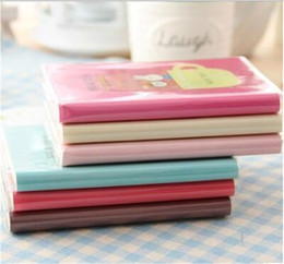 Wholesale Notepad Journal - 69sheets Creative korean stationery journals cute cartoon fresh thick diary notebook New vintage style paint pattern kraft notepad 10pcs lot