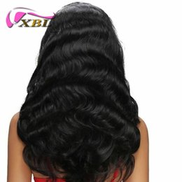 Wholesale Chinese 18 - XBL Silky Straight Human Hair Wigs For Black Women Body Wave Full Lace Wigs And Lace Front Wigs 8-24 Inch Accept