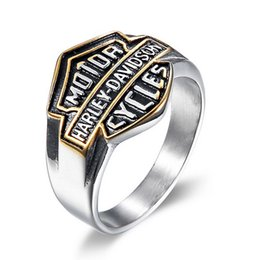 Wholesale Cast Stainless - European and American fashion locomotive Party Men's stainless steel rings, personality punk, casting rings, jewelry