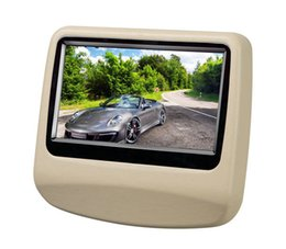 Wholesale Touch Screen Headrest Tv - 9 inch Capacitive Touch Screen Headrest Monitor Car DVD Pillow Headrest Monitor support USB SD  DVD Player IR FM car styling