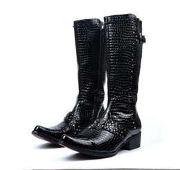 Wholesale Painting Velvet - The paint tube high boots British fashion men's boots boots Martin pointed with velvet nightclub 41cm high eu 38 to 44 M113
