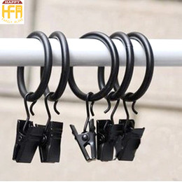 Wholesale Curtain Clip Rings Wholesale - Black Curtain Clips Practical Curtain Rings Durable Easy Use Curtain Accessories Simple Design Metal Clips Wholesale Customized Available