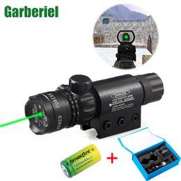 Wholesale Laser Sight Batteries - Garberiel New Arrival Optical Sight Hunting Optics Scope Shooting Riflescope Mount Green Laser Sight Hunting With 16340 Battery