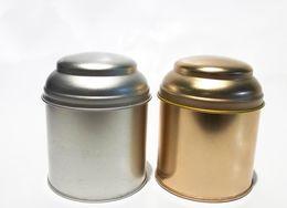 Caja de la joyería de la lata online-Envío gratis 7.5 * 9 cm Encantadora Ronda caja de la lata / caja de té o caja de joyería sin printin