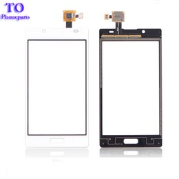 Wholesale Lg L7 Screen - For LG L7 P700 P705 Black White Touch Screen Panel Digitizer Glass Lens Repair Parts Replacement