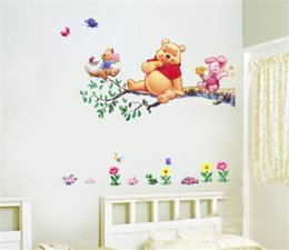 Wholesale Winnie Pooh Tree - 1 Piece Winnie the Pooh Partner Sitting in a tree Wall Sticker Children Room Removable Wall Posters child wall sticker Vinyl