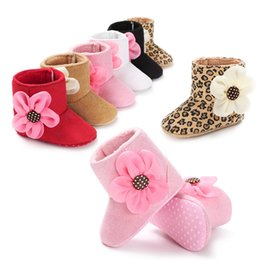 Wholesale Toddler Leopard Shoes For Girls - Fashion Leopard Winter Toddler Boots warm shoes Baby Walking Shoes Infant First Walking Boots Children Boot Kids 0-1T for girls