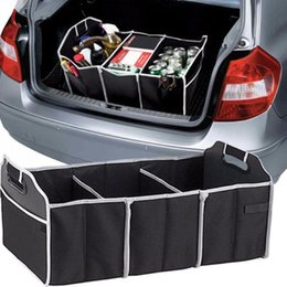 Wholesale Trunk Organiser - xtra Large Car Boot Organizer Stuff Food Storage Bags trunk organiser Automobile Stowing Tidying Interior Accessories Folding C