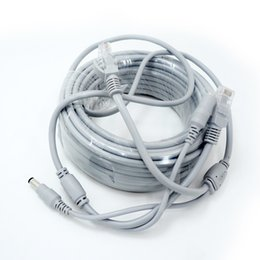 Wholesale 15m Ethernet - NC-15M 50PCS CCTV Network Lan Cable For IP Camera NVR System Color Gray Cat5E Network Ethernet cable IP Camera cable AT