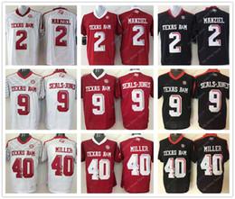 Wholesale White Colleges - College Texas A&M Aggies Jerseys 2 Johnny Manziel 9 Ricky Seals-Jones 40 Von Miller Jersey Home Away White Black Red