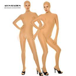 Wholesale Cheapest Bodysuit Costumes - Wholesale-2016 New Cheap Halloween Lycra Spandex Catsuit Skin Color Bodysuit