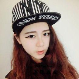 Wholesale Ny Flat Brim Caps - Harajuku hiphop hip hop cap flat-brimmed hat BOY tide Korean men and women Hip-hop skateboard hat baseball cap hat NY