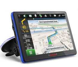 Wholesale China Dvds Wholesale - 7 inch Car GPS Navigation Capacitive screen FM Built in 8GB 256M WinCE 6.0 Map For Europe USA+Canada Truck vehicle gps Navigator