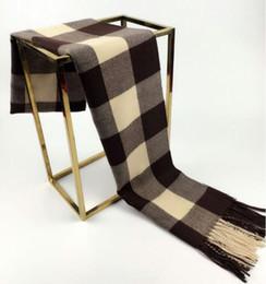 Wholesale Chiffon Scarf Squared - New Fashion Scarf Women Fashion Scarves Top quality Blankets Soft Cashmere Winter Scarf warm Square Plaid Shawl vv760