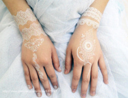 Wholesale Temporary Ems Tattoo - 200 pieces WHITE Henna White Tattoo Wholesale Go With DHL or Aramex EMS Temporary Henna Wedding Henna and Bridal Henna!