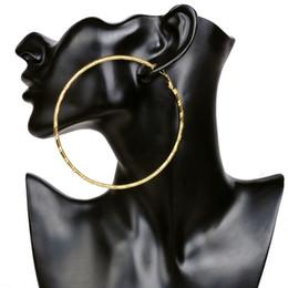 Wholesale Hot Wife Women - Wholesale- Hot Sale Hoop Circle Basketball Wives Bamboo Earrings Gold Fashion Earrings for Fashion Women Jewelry