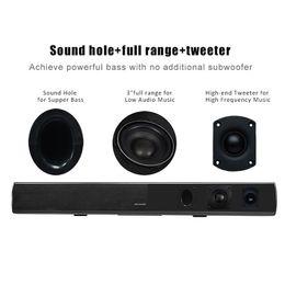 Wholesale bluetooth s11 - High Grade ABS Plastic Speaker for BT Home Theater Bloetooth Wireless Surround Speaker Soundbar S11 for Notebook