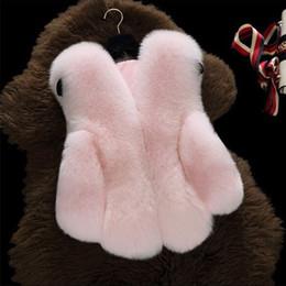 Wholesale 5t Girls Fur Coats - Girls Vests Coat 2017 Kids Girls Faux Fox Fur Waistcoat Infant Girl Warm Jackets Princess Outwear Children Clothing HX-578