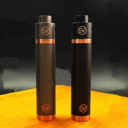 full copper mechanical mod Promo Codes - SV Kit Full Mechanical SV Mod Kit with Copper SV Mod and Stainless Steel SV RDA Fit 18650 Battery High quality DHL TZ685