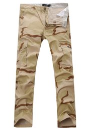 Wholesale Sport Camo Cargo Pants - Wholesale-Men's military army desert camouflage pants Men 100% cotton outdoor casual sport trousers Men tactical swat camo cargo pants