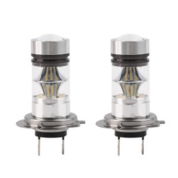 Wholesale power drive cars - H7 100W High Power COB LED Car Auto DRL Driving Fog Tail Headlight Light Lamp Bulb White 12-24V car styling