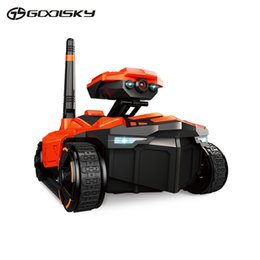 Wholesale Tank Toys Remote Control - Wholesale- GoolSky Smart RC Tank YD-211 Wifi FPV 0.3MP Camera App Remote Control Spy Tank RC Toy Phone Controlled Robot Toys For Children