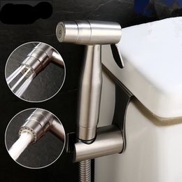 Wholesale Diaper Hose - Two Ways 304 Stainless Steel Handheld Bidet Shower Set Bidet Sprayer High Pressure Diaper Washing with Hose & Hanger Holder Brushed Nickel