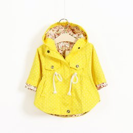 Wholesale Cute Toddler Girl Coats - 2016 New Spring Cute Baby Girl Coat Print Cartoon Graffiti Hooded Zipper Girl Jacket Full Sleeve Toddler Girl Outerwear
