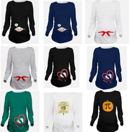 Wholesale Pregnant Woman Clothes Plus Size - Pregnancy clothes New Funny Maternity Shirt for pregnant women plus size Long Sleeve t-shirt Summer Premaman Shirts zwangerschaps kledinger